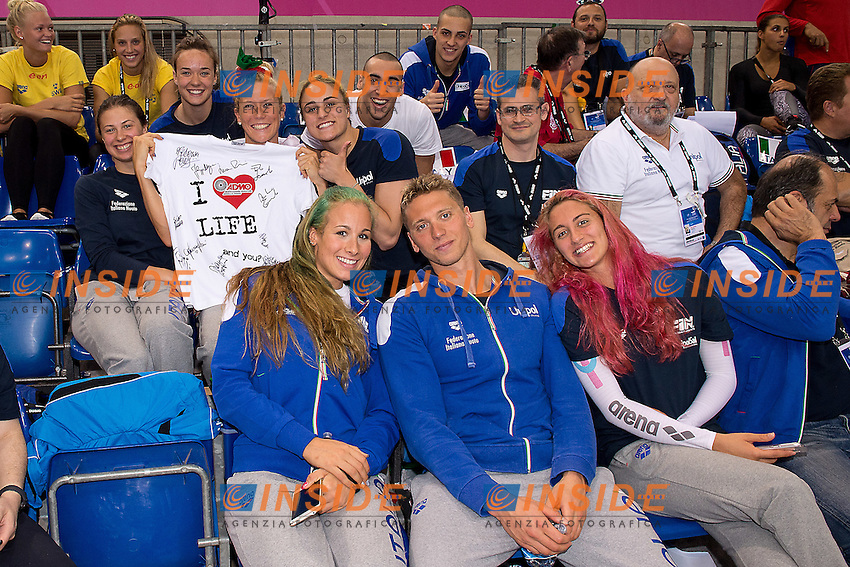 Team Italy<br /> London, Queen Elizabeth II Olympic Park Pool <br /> LEN 2016 European Aquatics Elite Championships <br /> Swimming day 03 finals<br /> Day 10 18-05-2016<br /> Photo Giorgio Scala/Deepbluemedia/Insidefoto
