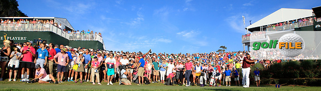 Hideki Matsuyama (JAP) on the 18th tee during the final round of the Players, TPC Sawgrass, Championship Way, Ponte Vedra Beach, FL 32082, USA. 15/05/2016.<br /> Picture: Golffile | Fran Caffrey<br /> <br /> <br /> All photo usage must carry mandatory copyright credit (&copy; Golffile | Fran Caffrey)