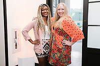Adama Sesay and Abby Whitmer attend RéVive Skincare Dinner and Discussion – Ageless Beauty: The New Standard at Spago in Beverly Hills, California on October 9, 2018. (Photo by Jason Sean Weiss / Guest of a Guest)