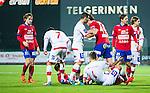 S&ouml;dert&auml;lje 2014-11-09 Fotboll Kval till Superettan Assyriska FF - &Ouml;rgryte IS :  <br /> &Ouml;rgrytes Jakob Lindstr&ouml;m till v&auml;nster n&auml;r &Ouml;rgrytes Carl Hawunger &auml;r i br&aring;k med Assyriskas Sotiris Papagiannopoulus under matchen mellan Assyriska FF och &Ouml;rgryte IS <br /> (Foto: Kenta J&ouml;nsson) Nyckelord:  S&ouml;dert&auml;lje Fotbollsarena Kval Superettan Assyriska AFF &Ouml;rgryte &Ouml;IS slagsm&aring;l br&aring;k fight fajt gruff