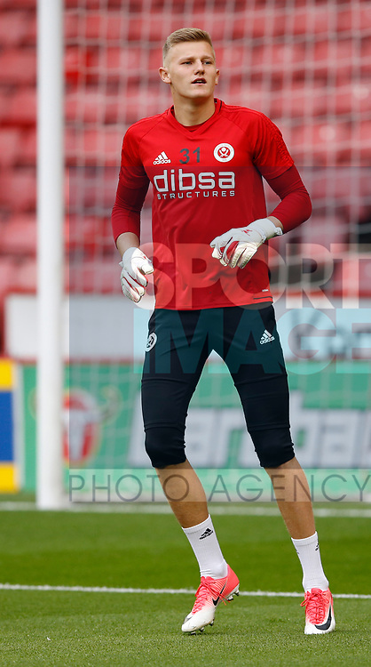 Jake Eastwood of Sheffield Utd during the Carabao Cup, second round match at Bramall Lane, Sheffield. Picture date 22nd August 2017. Picture credit should read: Simon Bellis/Sportimage