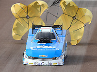 Feb 21, 2015; Chandler, AZ, USA; NHRA funny car driver John Force during qualifying for the Carquest Nationals at Wild Horse Pass Motorsports Park. Mandatory Credit: Mark J. Rebilas-