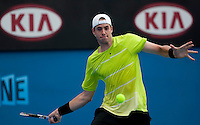John Isner (USA) (33) against Gael Monfils (FRA) (12) in the Third Round of the Mens SIngles. Isner beat Monfils 6-1 4-6 7-6 7-6...International Tennis - Australian Open Tennis - Fri 22 Jan 2010 - Melbourne Park - Melbourne - Australia ..© Frey - AMN Images, 1st Floor, Barry House, 20-22 Worple Road, London, SW19 4DH.Tel - +44 20 8947 0100.mfrey@advantagemedianet.com