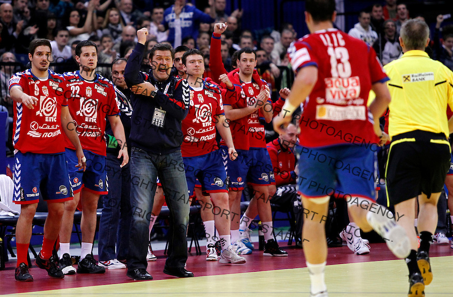 Head coach Veselin Vukovic of Serbia during main round, group 1 men`s EHF EURO 2012 championship handball game between Serbia and Germany in Belgrade, Serbia, Saturday, January 21, 2011.  (photo: Pedja Milosavljevic / thepedja@gmail.com / +381641260959)
