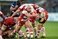 Willi Heinz of Gloucester Rugby passes the ball. Aviva Premiership match, between Bath Rugby and Gloucester Rugby on October 29, 2017 at the Recreation Ground in Bath, England. Photo by: Patrick Khachfe / Onside Images