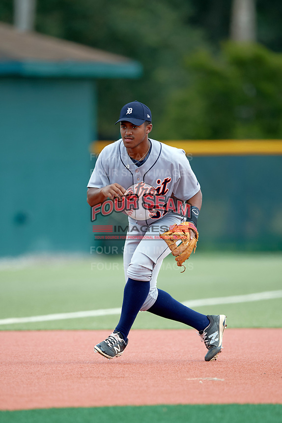 Detroit Tigers Dane Myers (51) during practice before an Instructional League game against the Pittsburgh Pirates October 6, 2017 at Pirate City in Bradenton, Florida.  (Mike Janes/Four Seam Images)