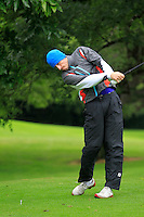 Eoin O'Connor (Elm Park) on the 3rd tee during round 1 of The Mullingar Scratch Cup in Mullingar Golf Club on Sunday 3rd August 2014.<br /> Picture:  Thos Caffrey / www.golffile.ie