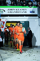 Joaquin Tuculet leads the Jaguares out for the Super Rugby match between the Chiefs and Jaguares at Rotorua International Stadum in Rotorua, New Zealand on Friday, 4 May 2018. Photo: Dave Lintott / lintottphoto.co.nz