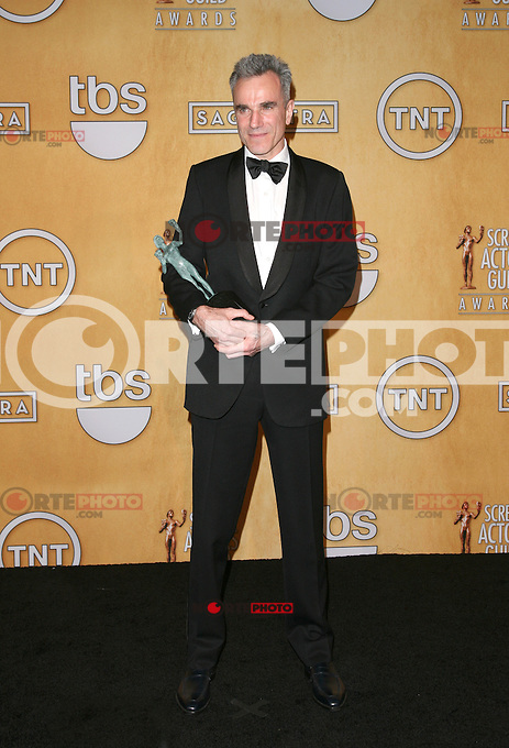 LOS ANGELES, CA - JANUARY 27: Daniel Day-Lewis in the press room at The 19th Annual Screen Actors Guild Awards at the Los Angeles Shrine Exposition Center in Los Angeles, California. January 27, 2013. Credit: mpi27/MediaPunch Inc. /NortePhoto /NortePhoto