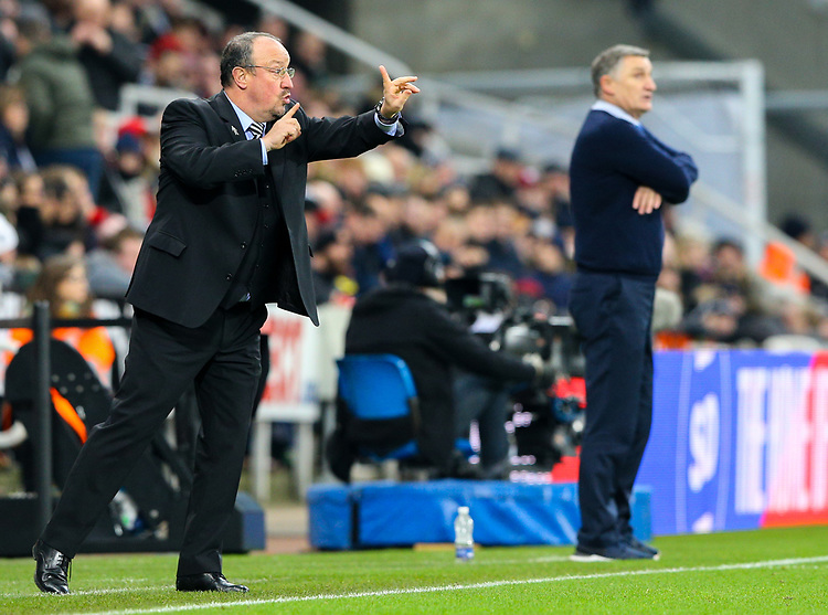Newcastle United manager Rafa Benítez shouts instructions to his team from the technical area<br /> <br /> Photographer Alex Dodd/CameraSport<br /> <br /> Emirates FA Cup Third Round - Newcastle United v Blackburn Rovers - Saturday 5th January 2019 - St James' Park - Newcastle<br />  <br /> World Copyright © 2019 CameraSport. All rights reserved. 43 Linden Ave. Countesthorpe. Leicester. England. LE8 5PG - Tel: +44 (0) 116 277 4147 - admin@camerasport.com - www.camerasport.com