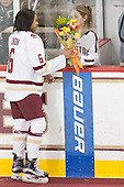 Kaliya Johnson (BC - 6), Brooke DiBona (BC) - The Boston College Eagles defeated the visiting Providence College Friars 7-1 on Friday, February 19, 2016, at Kelley Rink in Conte Forum in Boston, Massachusetts.