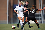 21 August 2016: North Carolina's Bridgette Andrzejewski (4) is fouled by Charlotte's Mary Manser (25). The University of North Carolina Tar Heels hosted the University of North Carolina Charlotte 49ers in a 2016 NCAA Division I Women's Soccer match. UNC won the game 3-0