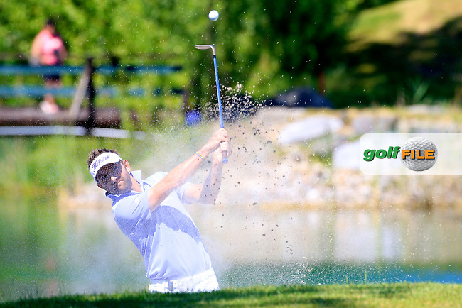Jbe Kruger (RSA) in action during the final round of the Lyoness Open powered by Organic+ played at Diamond Country Club, Atzenbrugg, Austria. 8-11 June 2017.<br /> 11/06/2017.<br /> Picture: Golffile | Phil Inglis<br /> <br /> <br /> All photo usage must carry mandatory copyright credit (&copy; Golffile | Phil Inglis)