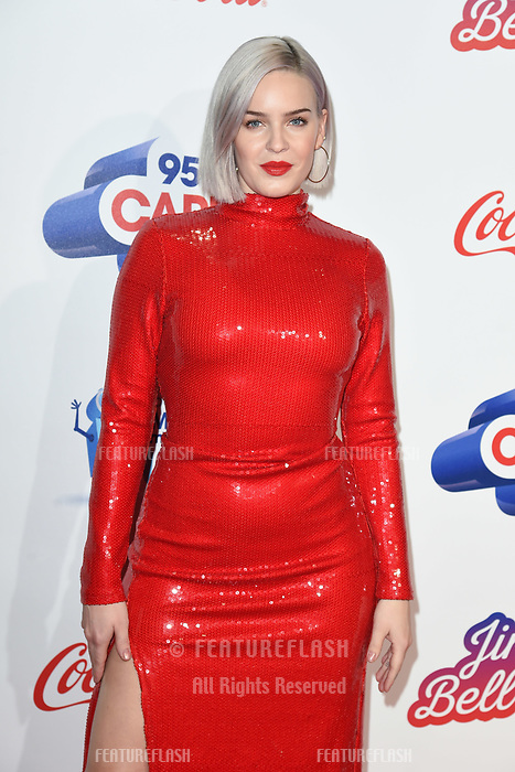 LONDON, UK. December 08, 2018: Anne Marie at Capital&rsquo;s Jingle Bell Ball 2018 with Coca-Cola, O2 Arena, London.<br /> Picture: Steve Vas/Featureflash