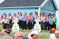 SKÛTSJESILEN: HINDELOOPEN: 01-08-2015, start IFKS skûtsjesilen, ©foto Martin de Jong