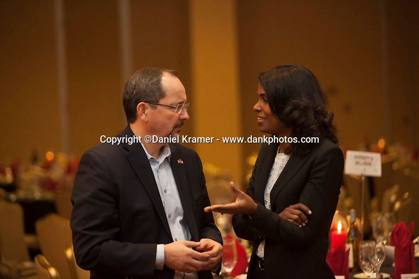 Rich Henning, Sr. Vice President of Communications and Nadine Leslie, President of Environmental Services, at the SUEZ Managers Meeting in North America held at the JW Marriott in Houston, Texas from Feb. 10-13, 2016.