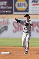 Brandon Bednar #16 of the San Jose Giants during a game against the High Desert Mavericks at Heritage Field on August 31, 2014 in Adelanto, California. High Desert defeated San Jose, 9-6. (Larry Goren/Four Seam Images)
