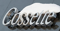 The Cossette Communication Group logo is pictured on their Rue Grande-Allee Street office headquarters in Quebec City February 24, 2009. Cossette Communication Group (TSX: KOS) is one of the largest marketing communications company in the world; it numbers among the 25 leading agencies worldwide.