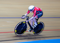 26th January 2020; National Cycling Centre, Manchester, Lancashire, England; HSBC British Cycling Track Championships; Female team sprint round two heat 1 Elisabeth Winton  (picture with sync slower shutter speed and panning)