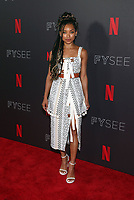LOS ANGELES, CA - MAY 29: Logan Browning, at the #NETFLIXFYSEE Comediennes: In Conversation Event at NETFLIX FYSEE Raleigh Studios in Los Angeles, California on May 29, 2018. <br /> CAP/MPI/FS<br /> &copy;FS/MPI/Capital Pictures