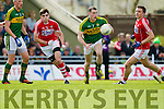 Kieran Donaghy and Mark Griffin Kerry in action against Mark Collins and Sean Kiely Cork in the National Football league in Austin Stack Park, Tralee on Sunday.