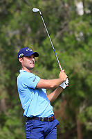 Andrea Pavan (ITA) on the 4th tee during Round 1 of the Omega Dubai Desert Classic, Emirates Golf Club, Dubai,  United Arab Emirates. 24/01/2019<br /> Picture: Golffile | Thos Caffrey<br /> <br /> <br /> All photo usage must carry mandatory copyright credit (&copy; Golffile | Thos Caffrey)