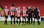 Chris Wilder manager of Sheffield Utd and his players take a lap of honour during the English League One match at Bramall Lane Stadium, Sheffield. Picture date: December 31st, 2016. Pic Simon Bellis/Sportimage