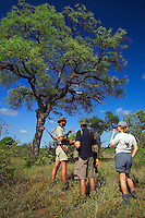 KLASERIE PRIVATE GAME RESERVE, SOUTH AFRICA, DECEMBER 2004. Wildlife guide Gary Freeman takes people on walking safaris in the bush. Photo by Frits Meyst/Adventure4ever.com