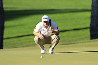 Paul Dunne (IRL) on the 16th green during Friday's Round 2 of the 2018 Turkish Airlines Open hosted by Regnum Carya Golf &amp; Spa Resort, Antalya, Turkey. 2nd November 2018.<br /> Picture: Eoin Clarke | Golffile<br /> <br /> <br /> All photos usage must carry mandatory copyright credit (&copy; Golffile | Eoin Clarke)