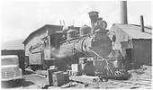 RGS 2-8-0 #41 on the ready track in Ridgway.<br /> RGS  Ridgway, CO  ca 1940-1949