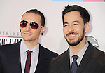 LOS ANGELES, CA - NOVEMBER 18: Chester Bennington and Mike Shinoda of Linkin Park attend the 40th Anniversary American Music Awards held at Nokia Theatre L.A. Live on November 18, 2012 in Los Angeles, California.