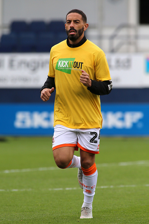 Blackpool's Liam Feeney during the pre-match warm-up <br /> <br /> Photographer David Shipman/CameraSport<br /> <br /> The EFL Sky Bet League One - Luton Town v Blackpool - Saturday 6th April 2019 - Kenilworth Road - Luton<br /> <br /> World Copyright © 2019 CameraSport. All rights reserved. 43 Linden Ave. Countesthorpe. Leicester. England. LE8 5PG - Tel: +44 (0) 116 277 4147 - admin@camerasport.com - www.camerasport.com