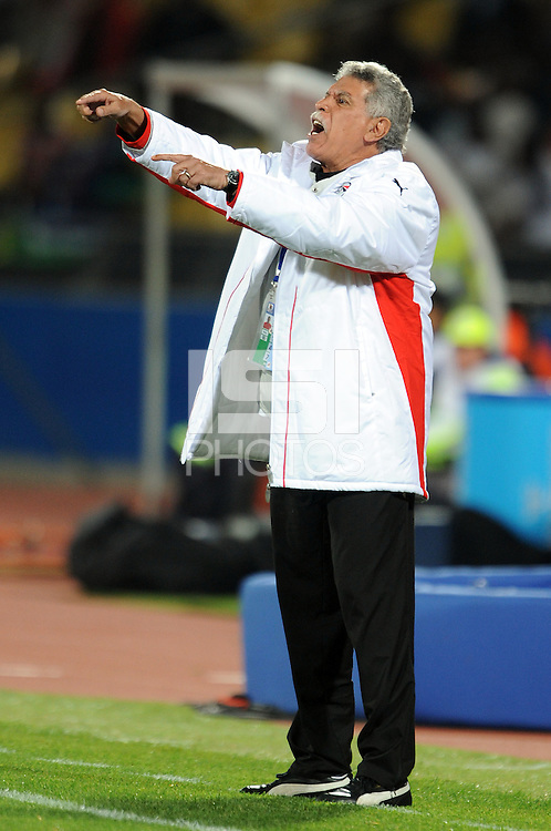 Egypt manager Hassan Sherata. USA defeated Egypt 3-0 during the FIFA Confederations Cup at Royal Bafokeng Stadium in Rustenberg, South Africa on June 21, 2009.