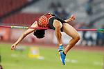 Akihiko Nakamura (JPN), <br /> AUGUST 25, 2018 - Athletics : <br /> Men's Decathlon High Jump <br /> at Gelora Bung Karno Main Stadium <br /> during the 2018 Jakarta Palembang Asian Games <br /> in Jakarta, Indonesia. <br /> (Photo by Naoki Morita/AFLO SPORT)