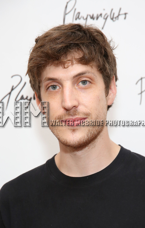 Max Posner during the first day of rehearsals for the Playwrights Horizons production of 'The Treasurer' on August 1, 2017 at the Playwrights rehearsal studio in New York City.