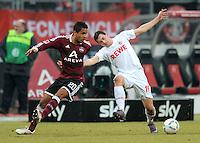 FUSSBALL   1. BUNDESLIGA  SAISON 2011/2012   22. Spieltag 1 FC Nuernberg - 1. FC Koeln       18.02.2012 Daniel Didavi  (li, 1 FC Nuernberg) gegen Mato Jajalo (1. FC Koeln)