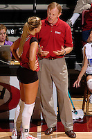 17 Sep 2005: John Dunning and Bryn Kehoe during Stanford's 3-0 win over UCSB at Maples Pavilion in Stanford, CA.
