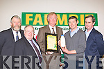 John O'Donoghue presents the 2009 Farmbiz winning trophy and a cheque of EUR5000 to Joe Daly Valentia Island at the Farmbiz awards ceremony in the South Kerry Development building, Killorglin on Saturday evening l-r: Johnny O'Connor, Patsy Cronin, JohnO'Donoghue, Joe Daly and Jerry Kennelly