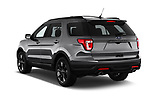 Car pictures of rear three quarter view of a 2018 Ford Explorer XLT 5 Door SUV angular rear