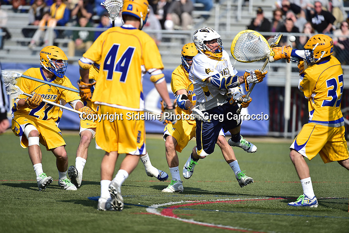 Philadelphia, Pa. &ndash; Hofstra (5-3, 2-0 CAA) scored three straight goals to break an 8-8 tie and defeated Drexel, 11-9, at Vidas Field in the Inaugural HEADstrong Hero Bowl, a new collegiate men's lacrosse event helping to promote blood cancer awareness and advance the mission of the HEADstrong Foundation&trade;.<br /> <br /> With the score even at eight, Hofstra goalkeeper Chris Selva made a big save on Drexel's (4-4, 0-1) Ben McIntosh to keep it tied. Moments later, with 7:31 left, Drew Coholan put the Pride ahead for good when he converted a pass from Lance Yapor. That was just the start of an outstanding fourth quarter for Coholalan. The senior scored the next two goals to put the Pride up by three. He scored those three goals in a span of 5:25 and finished the day with five goals. Drexel's Mitch de Snoo's man-up goal with 1:09 to play cut the lead to 11-9, but Drexel, despite having possession, couldn't get any closer.<br /> <br /> Hofstra opened the game with three straight scores before Drexel finally got on the board with 2:45 to play in the first period. Mike Malave, Yapor and Sam Llinares each had unassisted goals for the Pride. McIntosh fed Jules Raucci who rifled a shot past Selva to break Drexel's scoring drought. Just six seconds later, the Dragons trimmed it to 3-2. Nick Saputo won the face-off clean and fed Cole Shafer for his first of the game. That would be the last goal of the first quarter. Each team added one goal in the second. Jared Boudreau tied the game with 2:39 to play before intermission, but then Coholan gave the Pride the lead back with just :56 remaining.