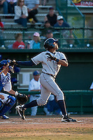 April 29 2010: Daniel Fields (45) of the Lakeland Flying Tigers during a game vs. the Daytona Beach Cubs at Jackie Robinson Ballpark in Daytona Beach, Florida. Daytona, the Florida State League High-A affiliate of the Chicago Cubs, lost the game against Lakeland, affiliate of the Detroit Tigers, by the score of 4-3  Photo By Scott Jontes/Four Seam Images