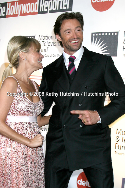 "Hugh Jackman  & Kristin Chenoweth arriving at ""A Fine Romance"" benefiting the Motion Picture & Television Fund at Sony Studios in Culver City, CA on .November 8, 2008.©2008 Kathy Hutchins / Hutchins Photo...                . ."