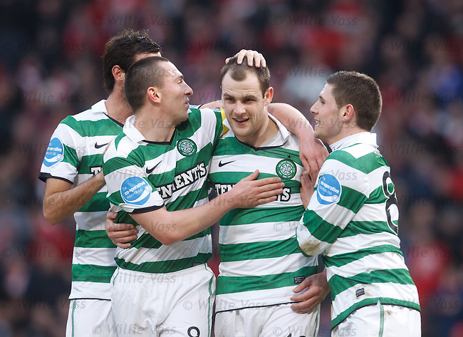 Anthony Stokes celebrates his penalty goal