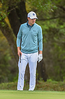 Jordan Spieth (USA) looks over his chip on 8 during day 4 of the Valero Texas Open, at the TPC San Antonio Oaks Course, San Antonio, Texas, USA. 4/7/2019.<br /> Picture: Golffile | Ken Murray<br /> <br /> <br /> All photo usage must carry mandatory copyright credit (© Golffile | Ken Murray)