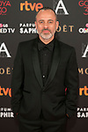 Javier Gutierrez attends 30th Goya Awards red carpet in Madrid, Spain. February 06, 2016. (ALTERPHOTOS/Victor Blanco)