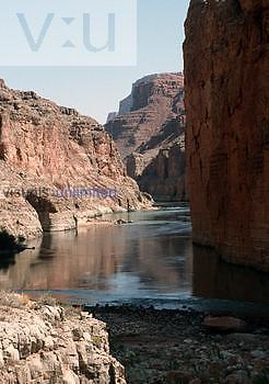 Sediments at bottom of Grand Canyon, USA