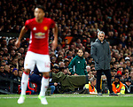 Manchester United manager Jose Mourinho watches Jesse Lingard during the UEFA Europa League Quarter Final 2nd Leg match at Old Trafford, Manchester. Picture date: April 20th, 2017. Pic credit should read: Matt McNulty/Sportimage