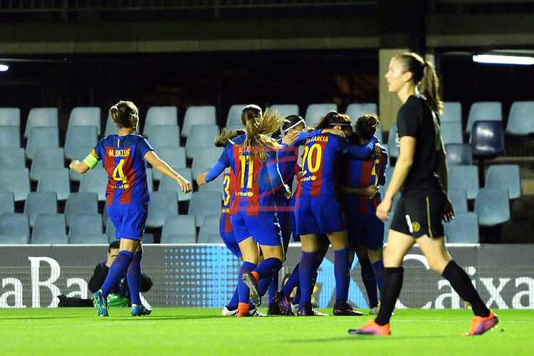 UEFA Women's Champions League 2016/2017.<br /> Round of 16 - First Leg<br /> FC Barcelona vs Twente: 1-0.