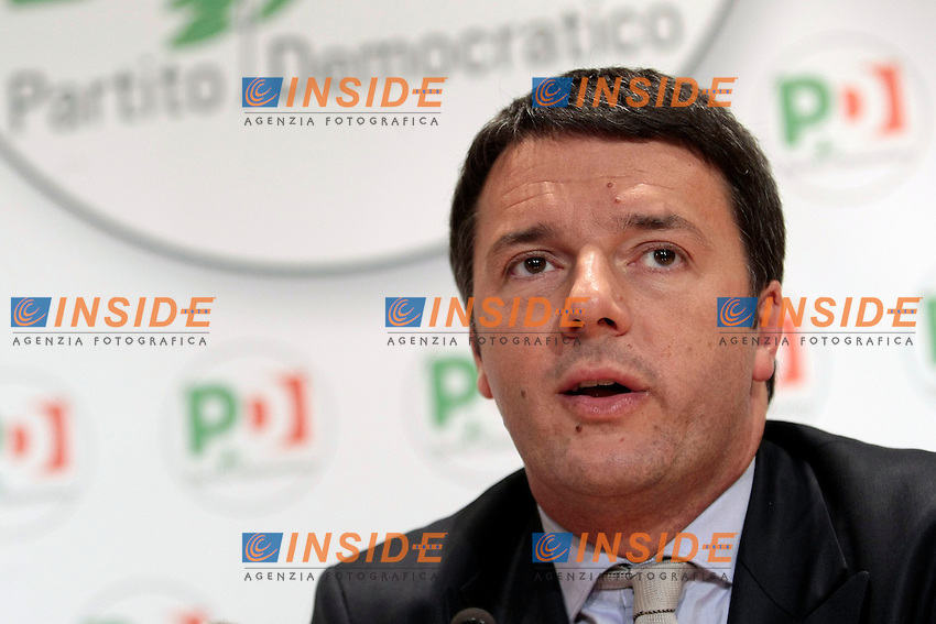 Matteo Renzi<br /> Roma 08/12/2013 Sede del PD. Conferenza stampa di Matteo Renzi nuovo segretario del Partito Democratico.<br /> Press conference of the new secretary of Democratic Party.<br /> Photo Samantha Zucchi Insidefoto