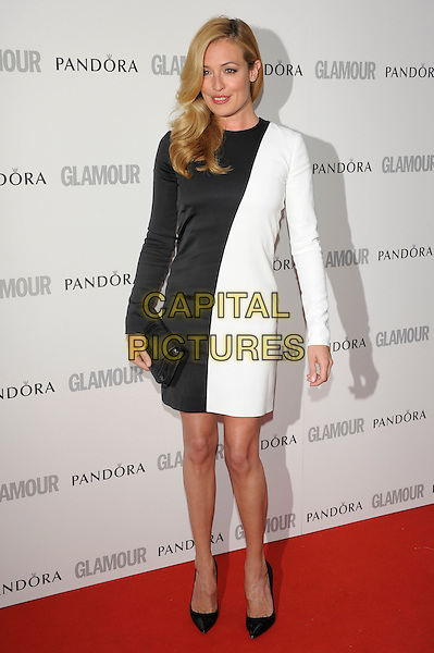 Cat Deeley.Women Of The Year 2012 - Glamour Awards, Berkeley Square, London, England..29th May 2012.full length white black monochrome dress long sleeves  .CAP/PL.©Phil Loftus/Capital Pictures.